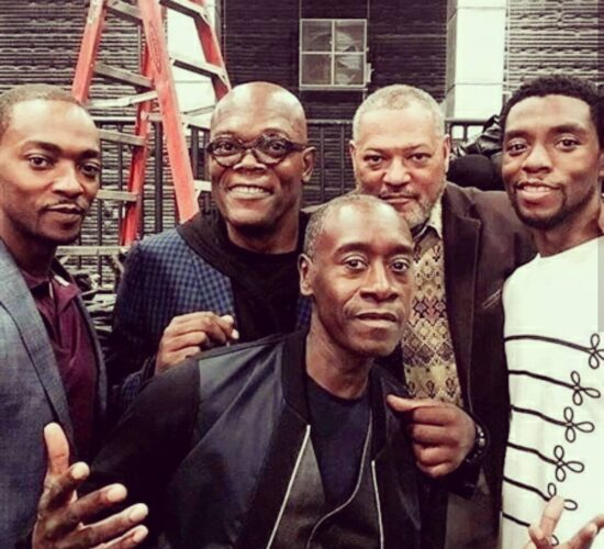 Awesome group selfie of the black actors from the TheAvengers Great job guys.