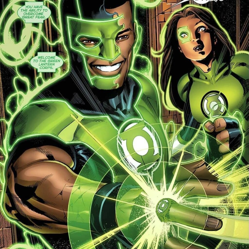 Blazing Green Lantern Comic Art Is FIRE Credit @blvckcomic