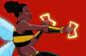 Bringing it with the Bumblebee Fan Art Credit @meechdoodle HistoryOfBlackSuperheroes.com Pantheon ImASuperhero.jpg