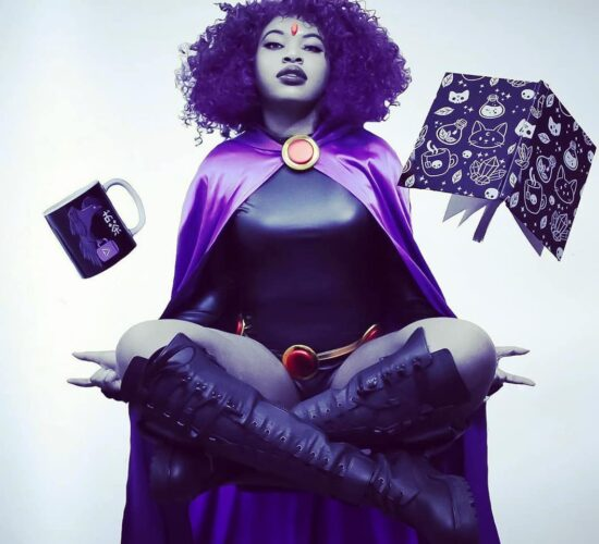 EXPERT LEVEL Raven Cosplay from the TeenTitans Go hard or go home...
