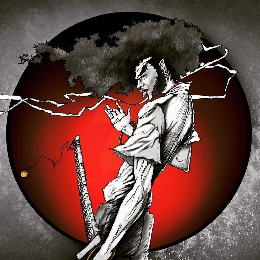 Lowkey Superb Afro Samurai Artwork Credit @artpoetryimages 1