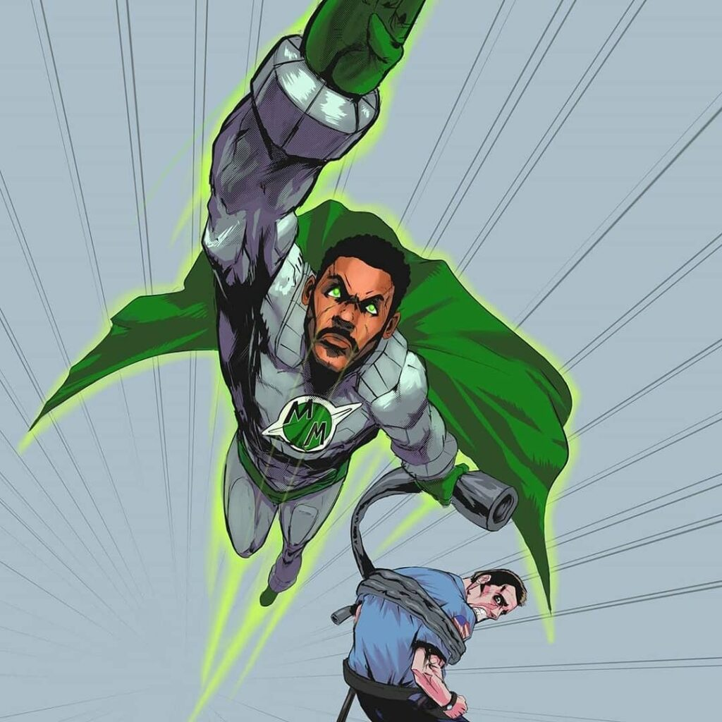METEOR Man Fan Art Zooming Right At You