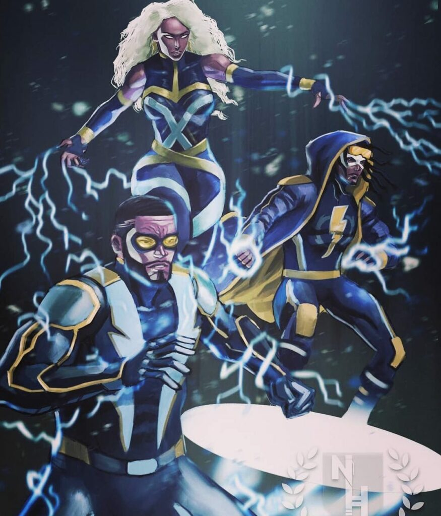 Storm⚡Black Lightning ⚡Static Shock ⚡Why isnt this a series already Artwork by @natehdsnart TuesdayVibes Tue.jpg