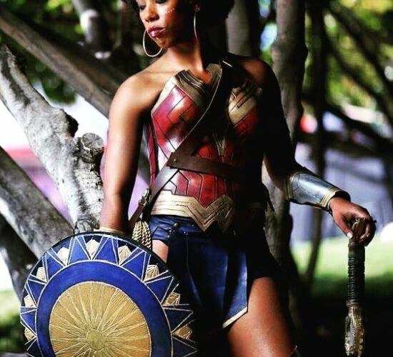 Super Sultry Wonder Woman Cosplay All that glorious afrosheen... See