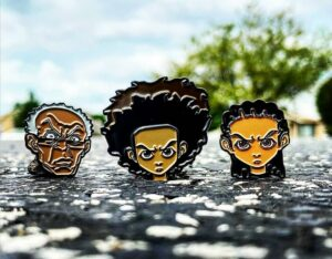 Boondocks Pins Killing The EnamelPins Game Credit @hueyssons