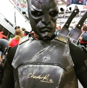 Breastplate Signed By Chadwick Boseman at San Diego Comic Con Pride
