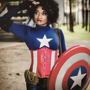 Captain Liberty Cosplay Flying High By Dr. Cosplay @cosplay.doctor