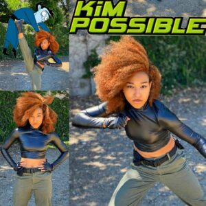 KIM POSSIBLE Cosplay Is Kicking Major Bad Guy Booty 1