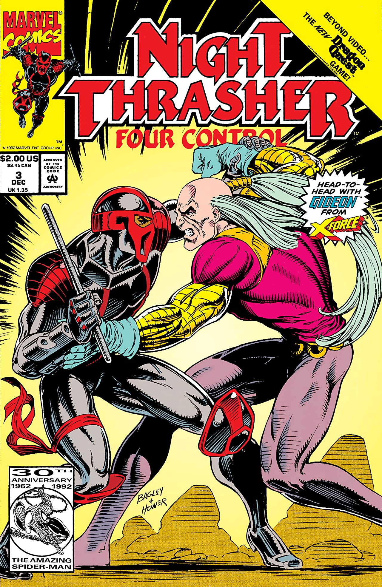 Night Thrasher marvel Comics X Force Cover
