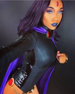 Ravenously Riveting Raven Cosplay Thats Conjuring All That TeenTitans Tenacity