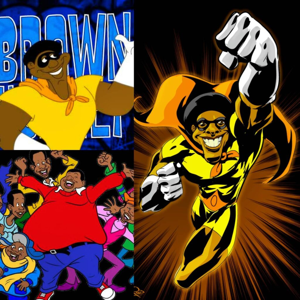 THE BROWN HORNET First Ever Comic To Exist Within A Comic... See more at HistoryofBlackSuperheroes.com .