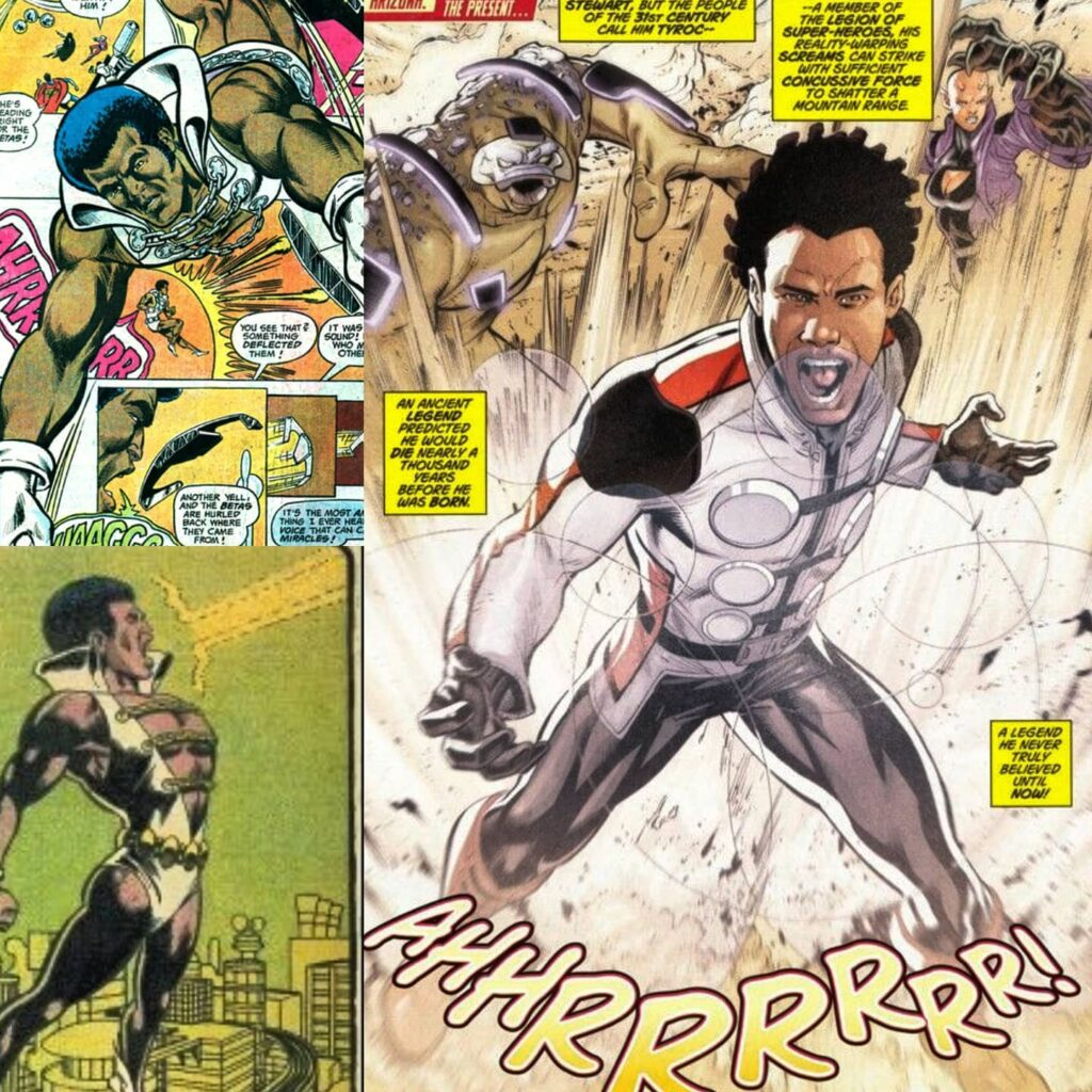 TYROC One of DCs First Black Costumed Superheroes Tyroc first appears in Superboy 216 April 1976. His appearance occurs a