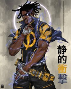Static Shock Fan Art Gone Full Wattage ⚡Credit @ceddy jo