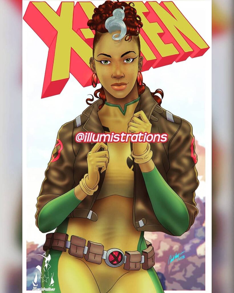 90s Rogue From X Men Is All That A Bag Of Chips Credit Charles @illumistrations Catch More Comic Culture At HistoryOfBlackS
