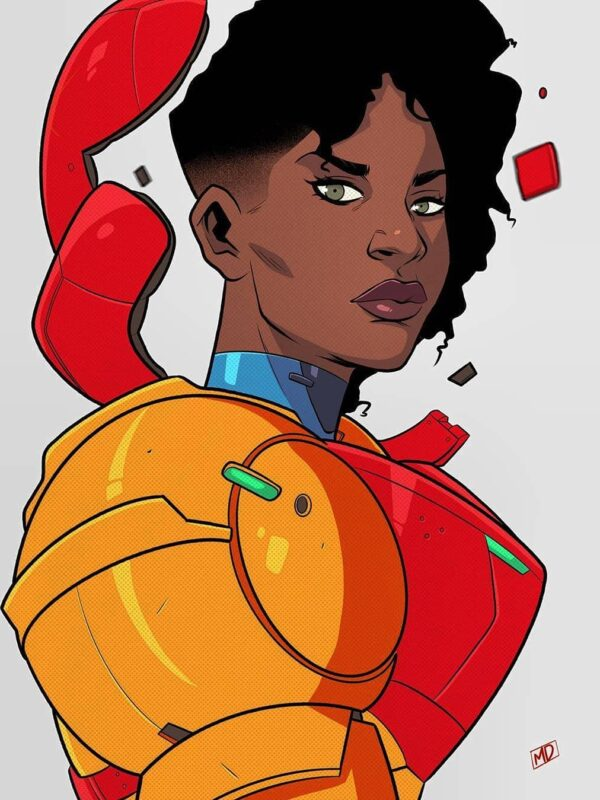 RiRi Williams Infused Samus Fan Art By The Unstoppable MEECH